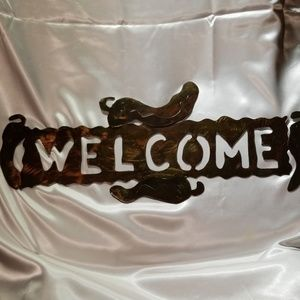Other - Metal Chili Welcome Sign